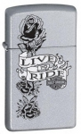 Зажигалка Zippo артикул 24008 Harley Davidson Live to Ride Slim Satin Chrome