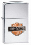 Зажигалка Zippo Harley Davidson Bar and Shield High Polished Chrome артикул 24021