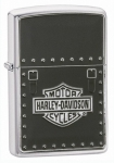 Зажигалка Zippo Harley Davidson Saddle Bag Emblem Brushed Chrome артикул 24168