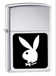 Зажигалка Zippo Playboy High Polish Chrome артикул 250PB.107