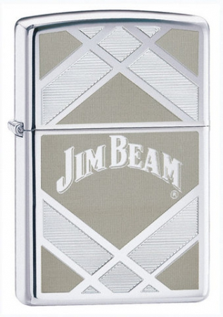 Зажигалка Zippo Jim Beam High Polish Chrome артикул 24550