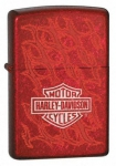 Зажигалка Zippo Harley Davidson Barbed Wire Fence Fa?ade Candy Apple Red артикул 24022