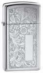 Зажигалка Zippo Slim Venetian High Polish Chrome артикул 1652