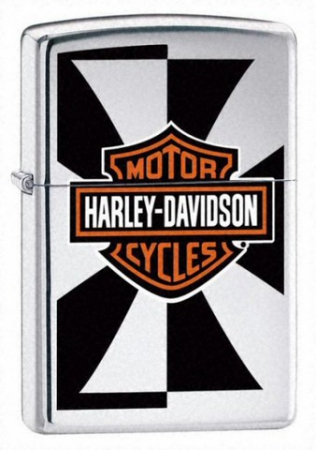 Зажигалка Zippo Harley Davidson Reflection High Polish Chrome артикул 24024