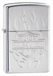 Зажигалка Zippo Harley Davidson Tatoo Armour High Polished Chrome артикул 24029