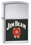 Зажигалка Zippo Jim Beam High Polish Chrome артикул 24552